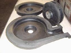 Carcasas y rotores de bombas para mineria Productos de goma